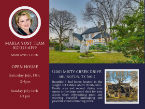 2001 Misty Creek Arlington Texas July 13th and 14th 2019 Open House