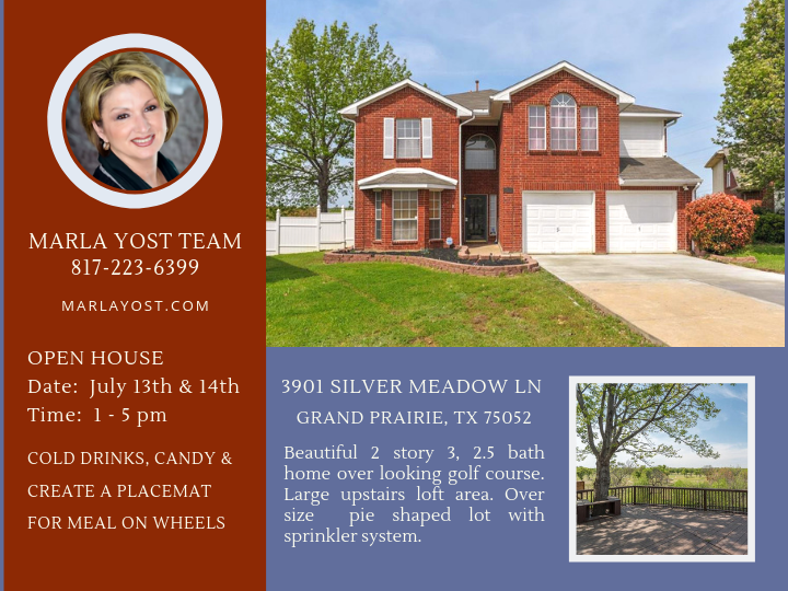 3901 Silver Meadow Lane Grand Prairie Texas 75052 Open House Saturday July 13th and Sunday July 14 2019